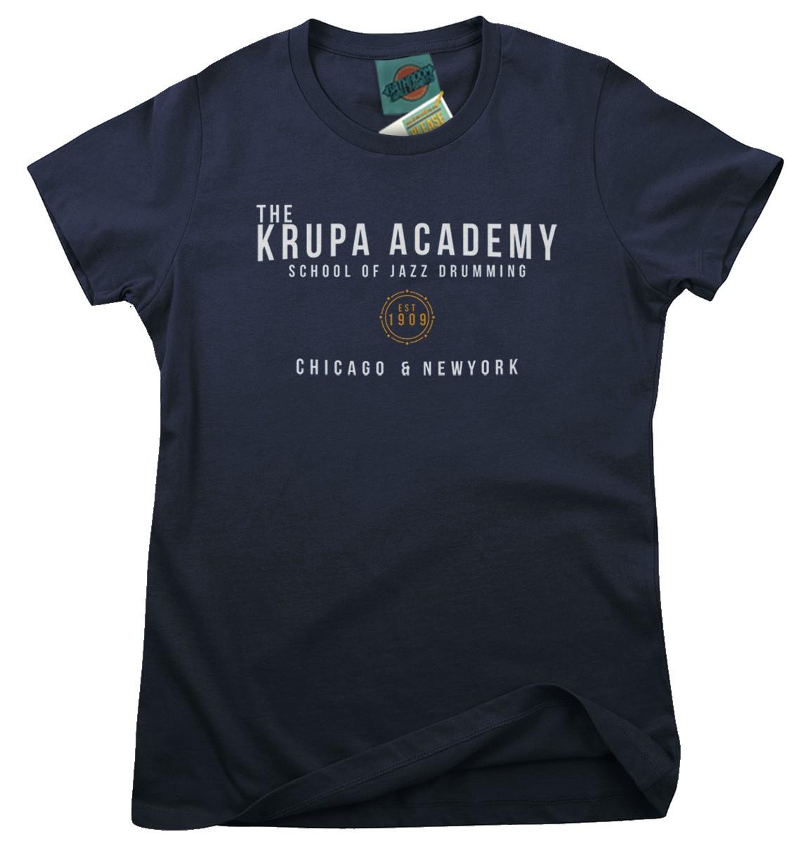 GENE-KRUPA-inspired-JAZZ-DRUMMING-Femmes-T-Shirt