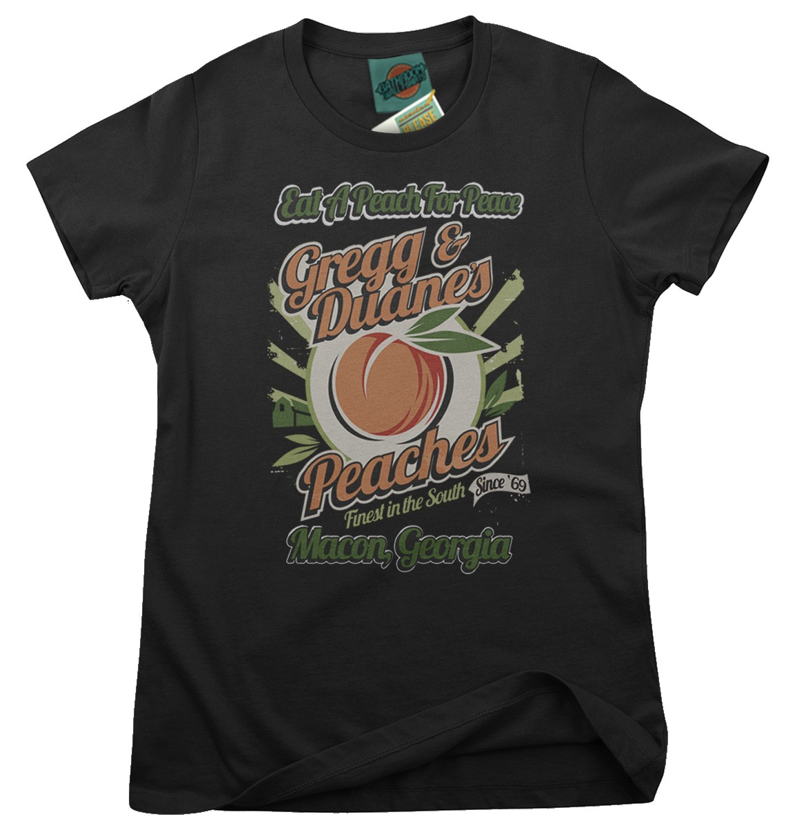 Allman-Brother-inspired-Eat-A-Peach-For-Peace-Femmes-T-Shirt