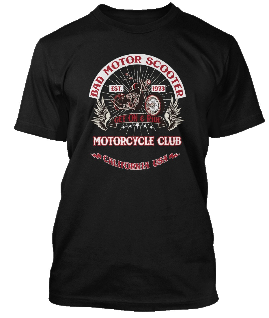 MONTROSE-inspired-Sammy-Hagar-BAD-MOTOR-SCOOTER-Hommes-T-Shirt