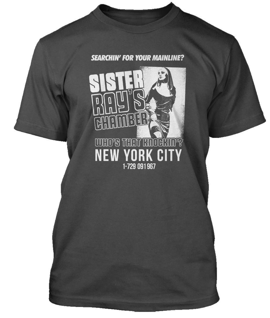 VELVET-UNDERGROUND-inspired-SISTER-RAY-Hommes-T-Shirt
