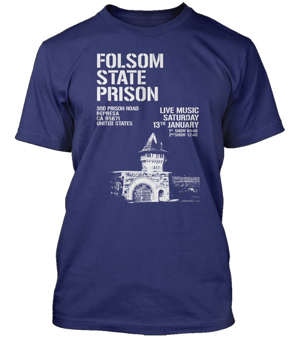 Johnny-Cash-Folsom-Prison-Blues-inspired-Hommes-T-Shirt