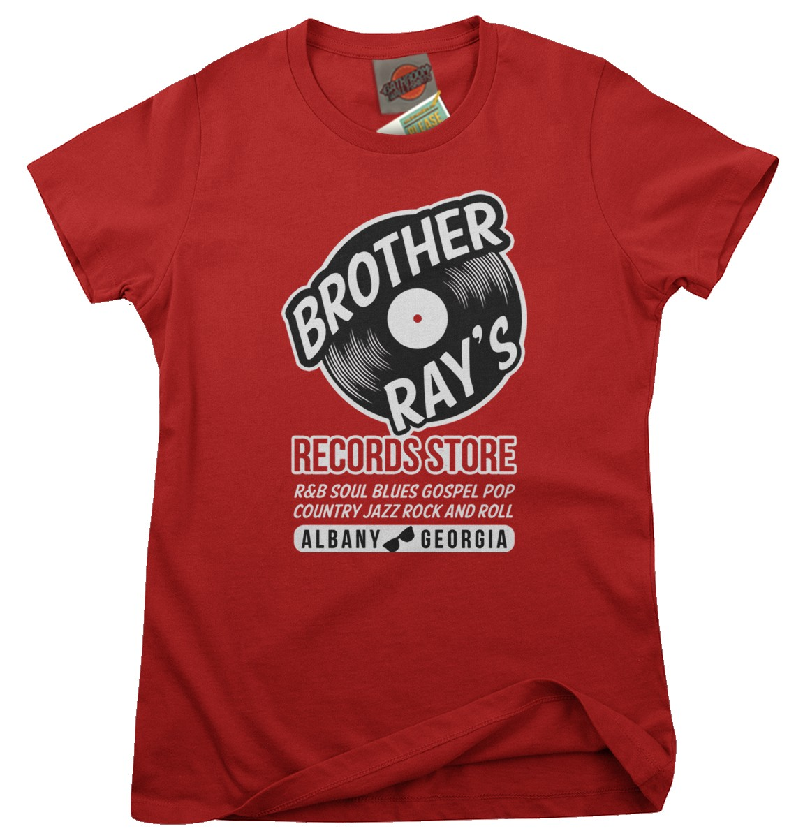 RAY-CHARLES-inspired-BROTHER-RAY-RECORDS-blue-and-soul-Femmes-T-Shirt