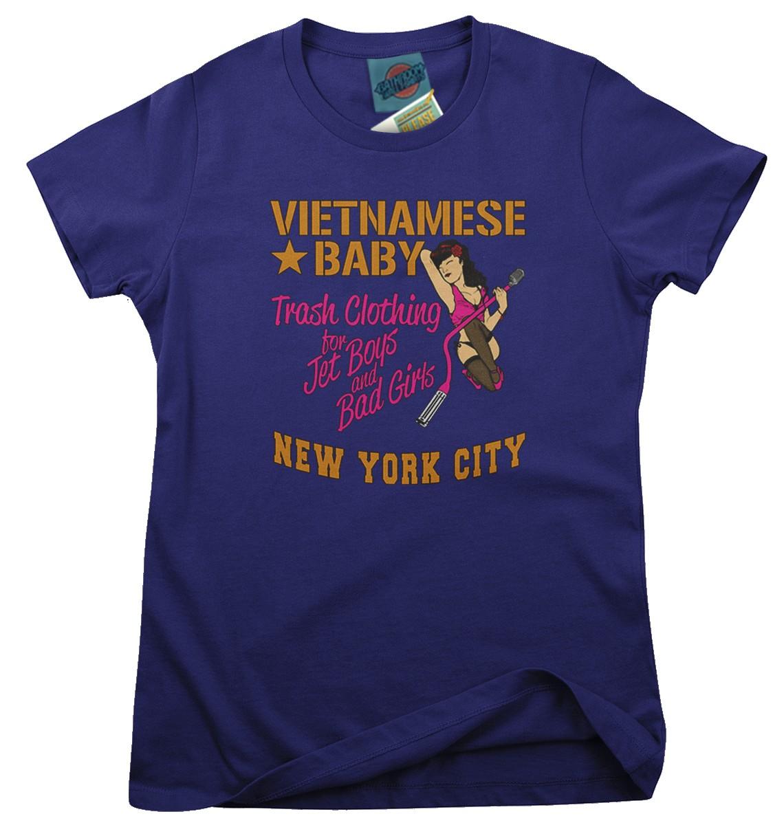 NEW-YORK-DOLLS-inspired-VIETNAMESE-BABY-boutique-Femmes-T-Shirt
