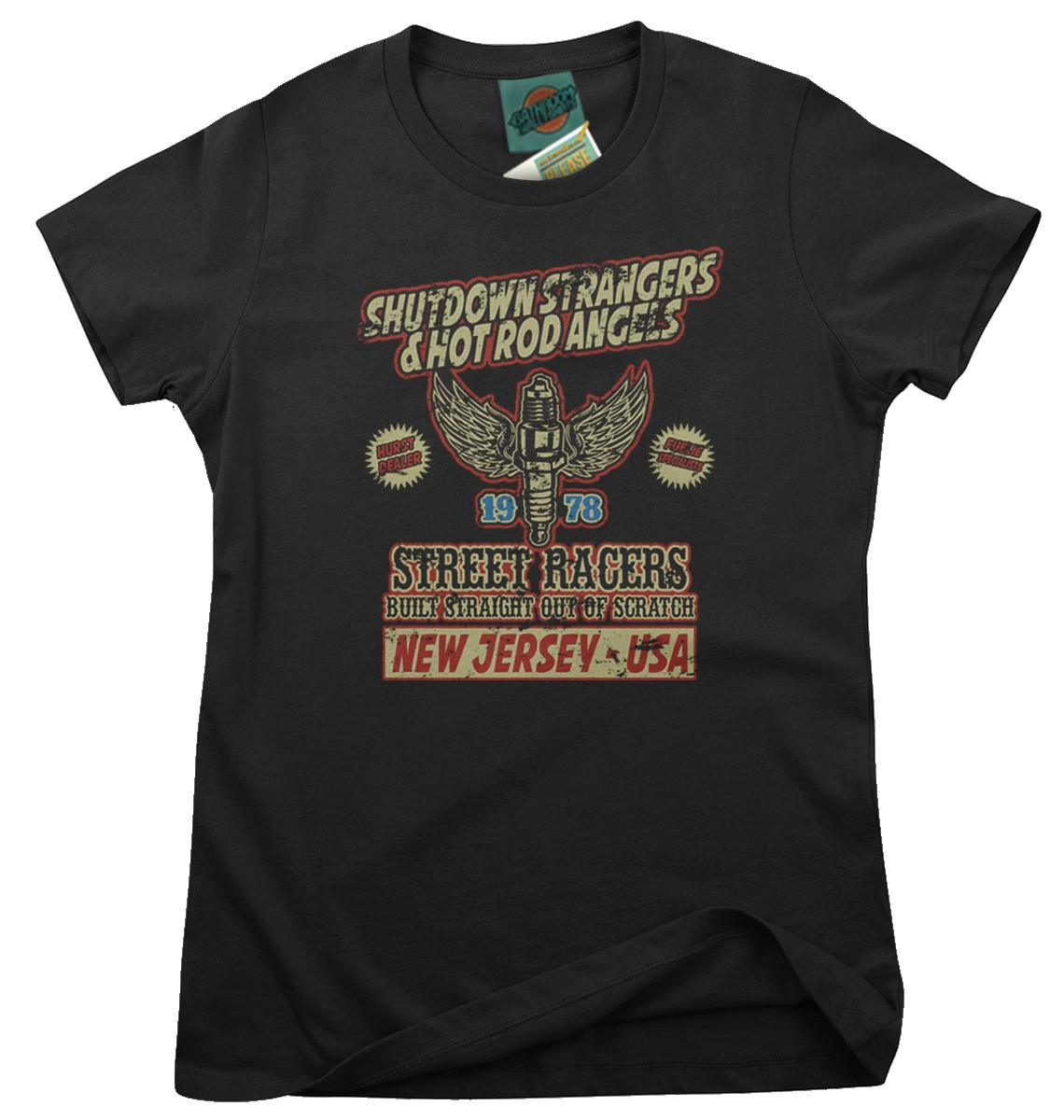 BRUCE-SPRINGSTEEN-inspired-RACING-IN-THE-STREET-Femmes-T-Shirt