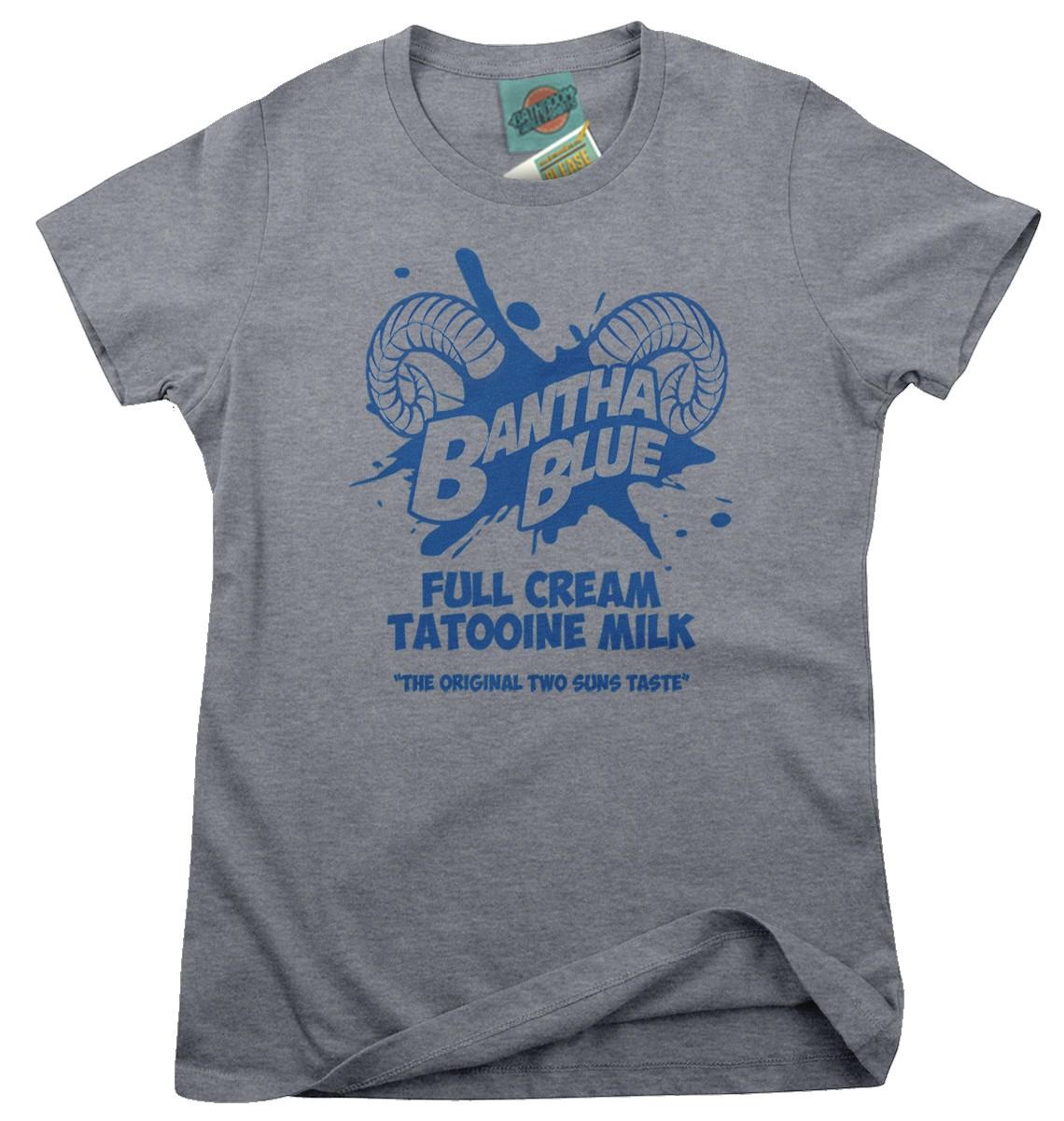 STAR-WARS-inspired-BANTHA-BLUE-MILK-Femmes-T-Shirt