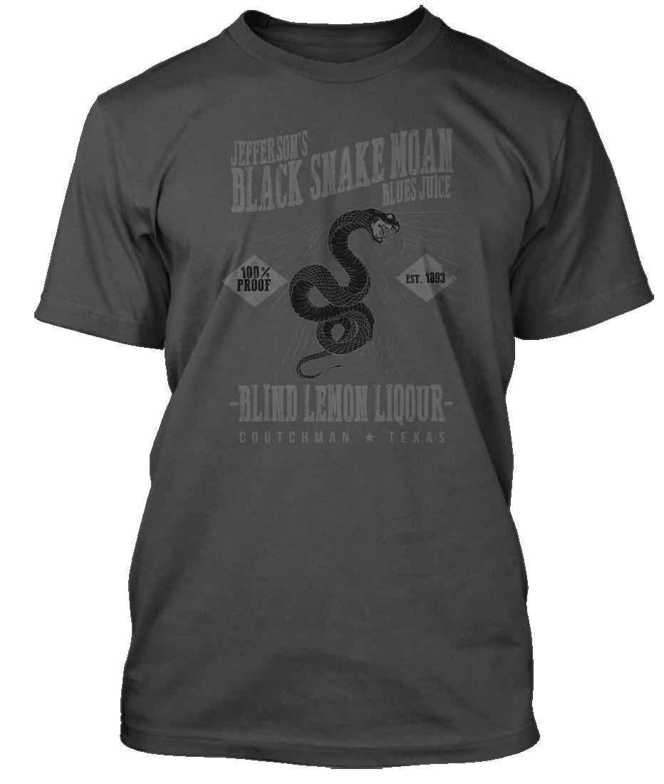 BLIND-LEMON-JEFFERSON-inspired-BLACK-SNAKE-MOAN-Blues-Hommes-T-Shirt
