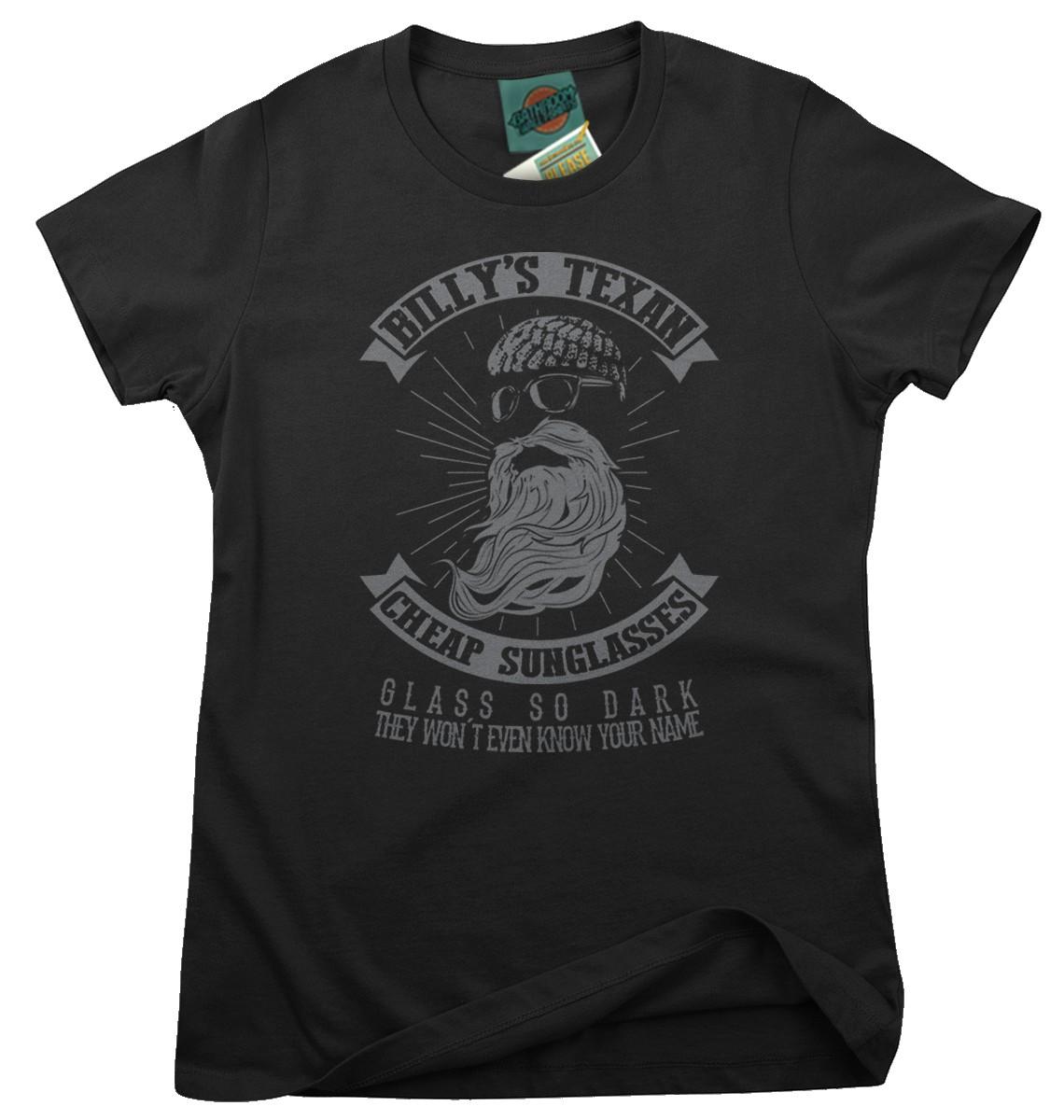 ZZ-Top-inspired-CHEAP-SUNGLASSES-Femmes-T-Shirt