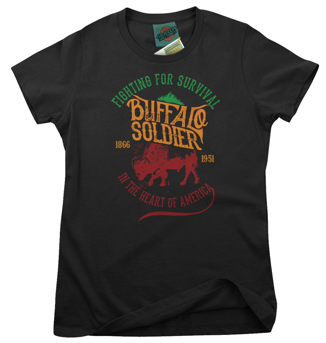 BOB-MARLEY-inspired-BUFFALO-SOLDIER-Femmes-T-Shirt