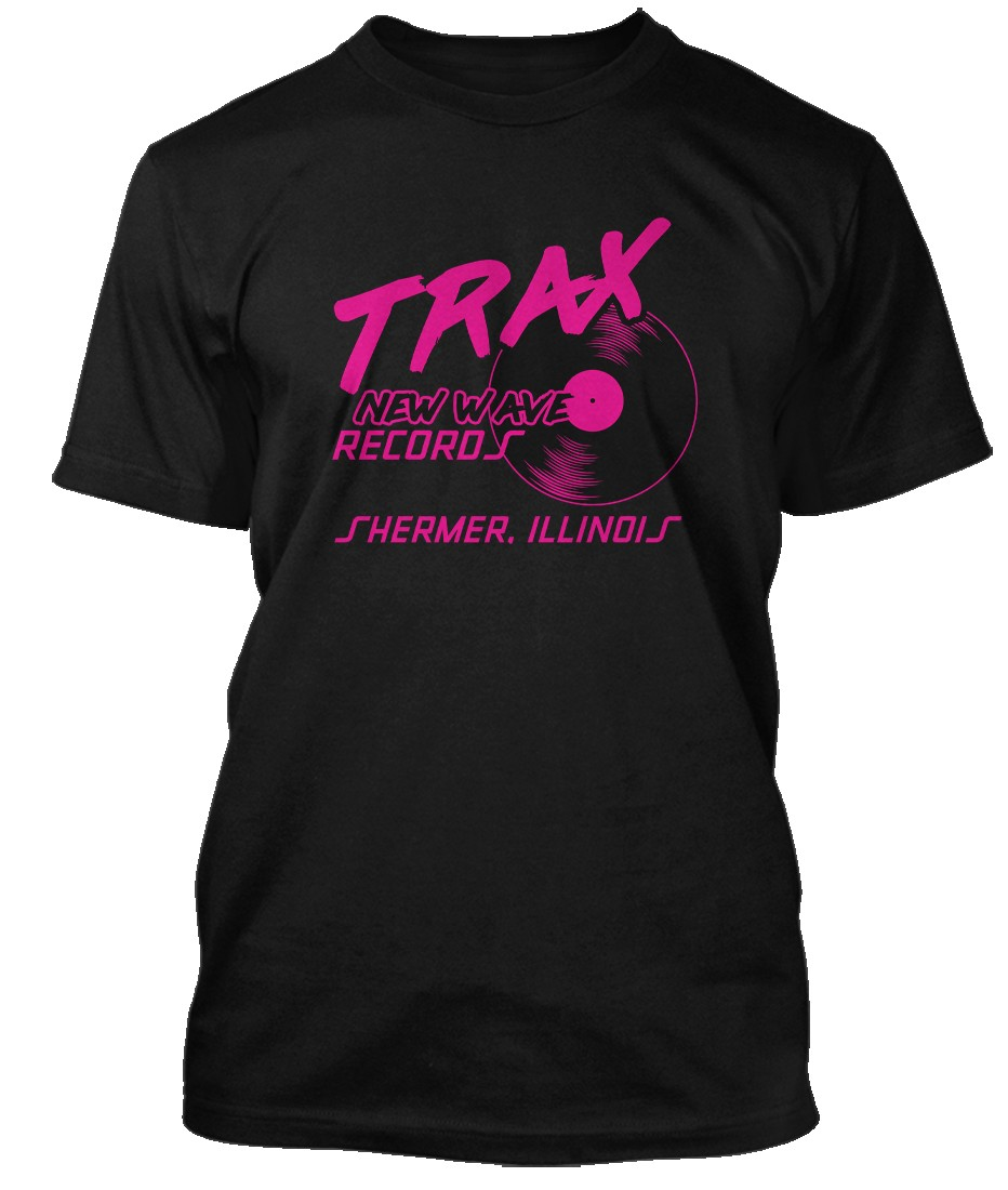 PRETTY-IN-PINK-inspired-TRAX-RECORDS-Shermer-Illinois-Hommes-T-Shirt