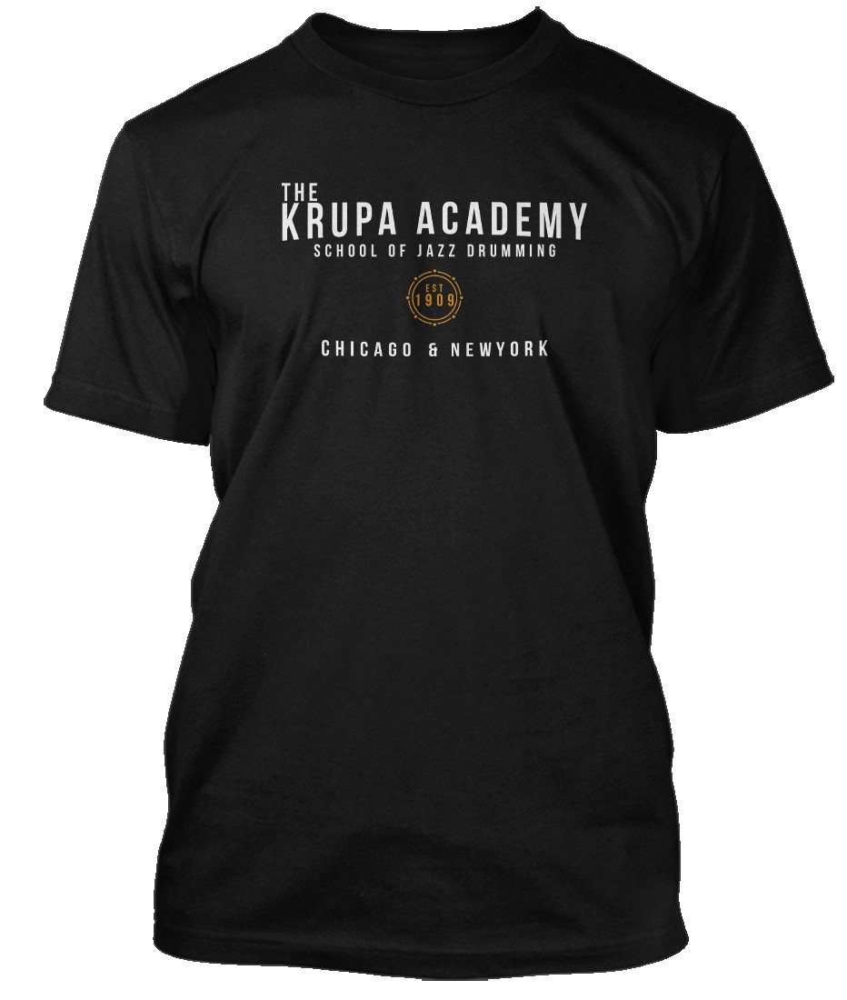 GENE-KRUPA-inspired-JAZZ-DRUMMING-Hommes-T-Shirt