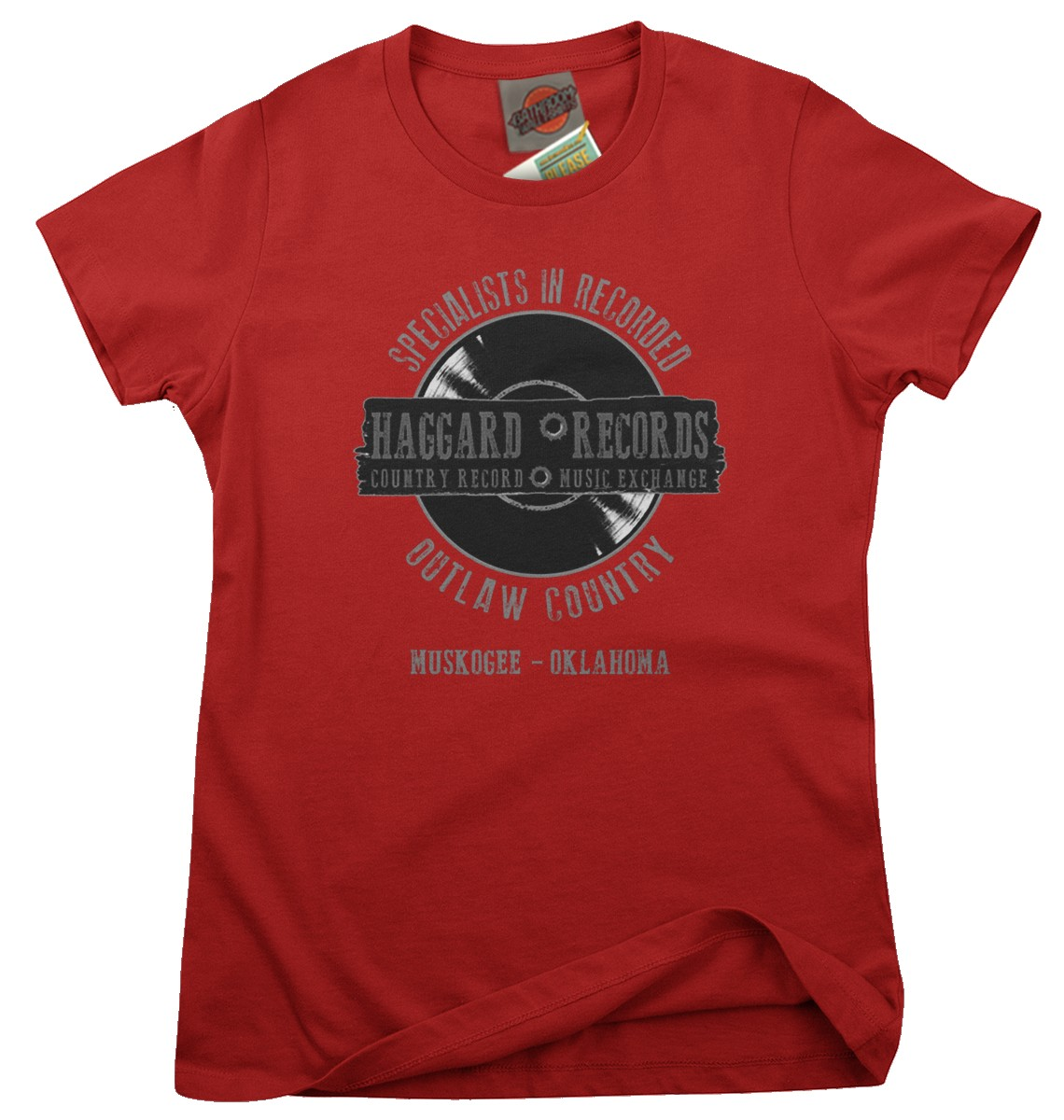 MERLE-HAGGARD-inspired-Haggard-Record-outlaw-country-Femmes-T-Shirt