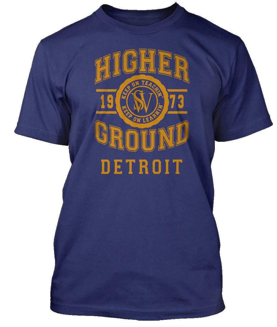 STEVIE-WONDER-inspired-HIGHER-GROUND-Hommes-T-Shirt