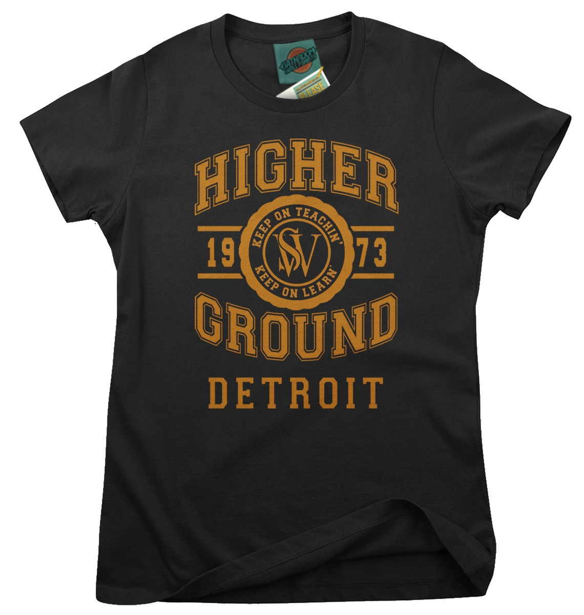 STEVIE-WONDER-inspired-HIGHER-GROUND-Femmes-T-Shirt