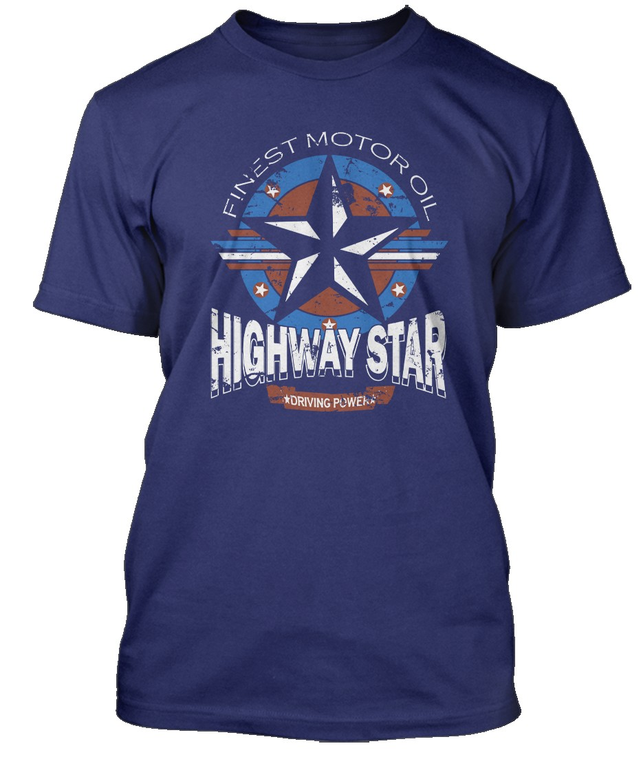 Deep-Purple-inspired-Highway-Star-Motor-Oil-Hommes-T-Shirt
