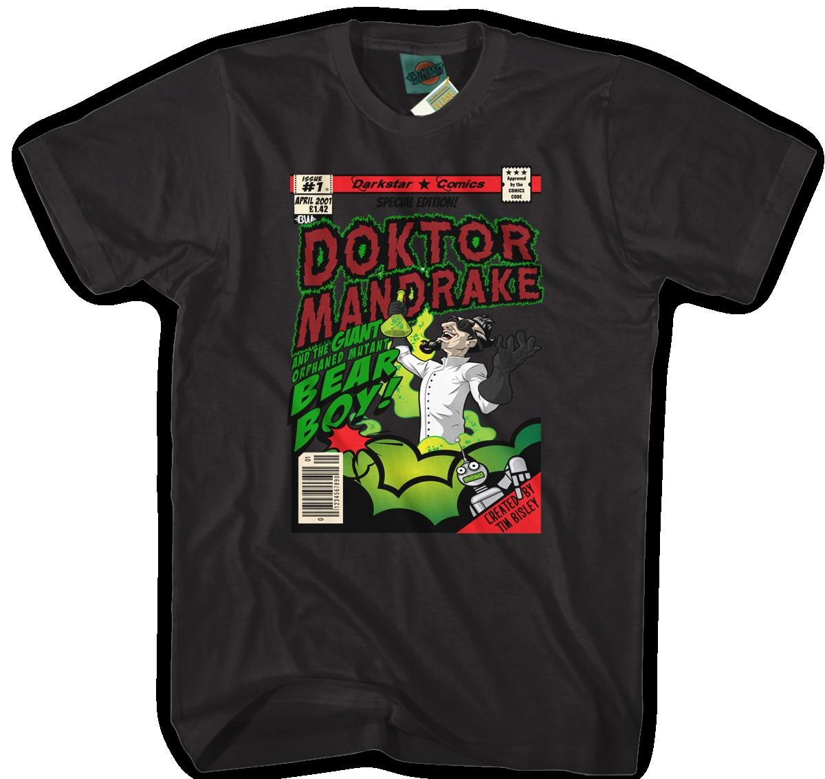 SPACED-INSPIRED-DOKTOR-MANDRAKE-Hommes-T-Shirt