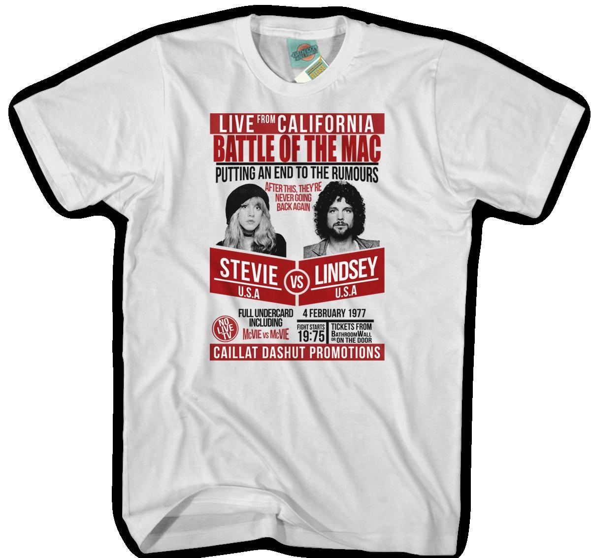 New Stevie Nicks Fleetwood Mac Mens Fitted White T-Shirt